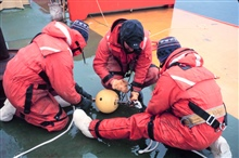 Preparing an Interocean Current Meter  in the Ross Sea for deploymentfrom a fixed mooring.