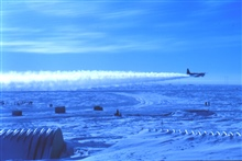 Photo #6 -The first spring flight back on its way to McMurdo