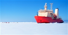 The National Science Foundation, Research Ice Breaker, NATHANIEL B. PALMER,in heavy sea ice