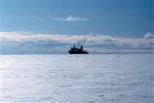 The National Science Foundation, Research Ice Breaker,NATHANIEL B. PALMER pushed into sea ice