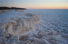 Pack ice and anchor ice at Oval Beach, Saugatuck, Michigan.
