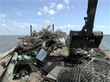 Debris recovered from Mobile Bay