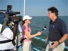 Tim Osborn, program manager for NOAA's National Ocean Service in Louisiana and Fox 10