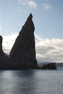 Pinnacle rock at Bartoleme Island