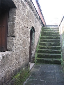 Stairways outside the chapel at the Intramuros of Manila.