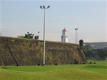The wall of the walled city at Intramuros.