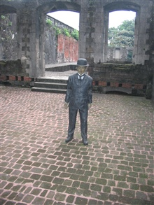 The cell where Dr. Rizal, a Philippine independence fighter, was held beforebeing executed.  This is in the Intramuros of Manila.
