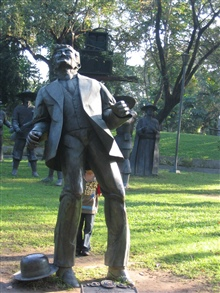 The statue of Dr. Rizal at the location of his execution in today's Rizal Park.