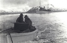 A look back at the DISCOVERER.Old Woman's Bay, Kodiak Island, 1940.
