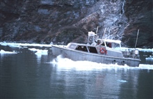 Survey launch on line in Tracy Arm