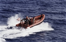 Rigid Inflatable Hull Boat off MALCOLM BALDRIGE.