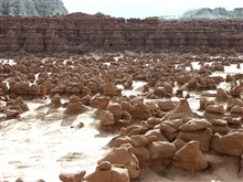 Goblin Valley State Park.  Wind and water eroded features.