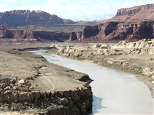 The Colorado River flowing through the arid southwest.