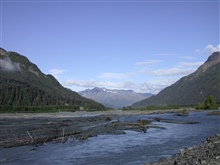 A river valley cutting through central Alaska along the George Parks Highway.
