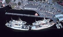 NOAA Ships tied up at the Pacific Marine Center