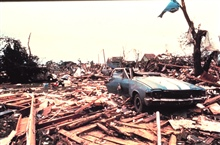 Damage caused by Union City Tornado.