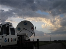 NOAA/NSSL X-Pol Mobile radar after the storm has passed over