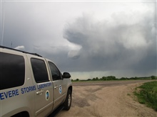 Nebraska storms looking to southeast from NSSL MV. The team was betweentwo storms at that time.