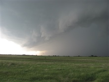 Supercell thunderstorm over the prairie
