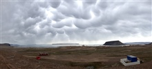 Spectacular mammatus in the Arctic