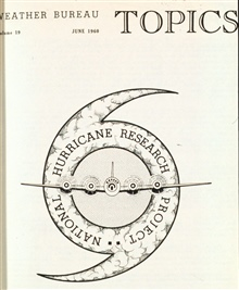 Hurricane Research Project Logo on cover of June 1960 Weather Bureau Topics.