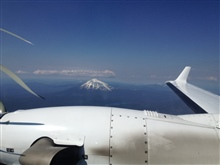 A conical snow-covered Cascade peak as seen from NOAA King Air (BC300 CER)N68RF.