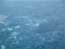 Sea surface during Hurricane Isabel at 400 feet altitude.