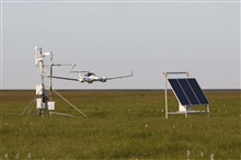 NOAA's Best Aircraft Turbulence Probe (BAT) being used on Aurora FlightSciences Corporation Centaur aircraft.  This test was conducted over Alaskantundra and designed to measure fluxes of the greenhouse gases carbon dioxide