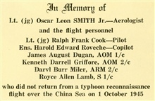 A eulogy for some of the earliest tropical storm reconnaissance personnel thatlost their lives on October 1, 1945.