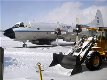 NOAA P-3 on the tarmac at Halifax, Nova Scotia, during Ocean Winds winterexperiment.