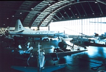Interior of NOAA hangar at MacDill AFB