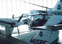 A menagerie of NOAA aircraft at the NOAA hangar at MacDill AFB