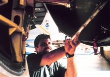 Maintenance of gear and aircraft on NOAA aircraft.