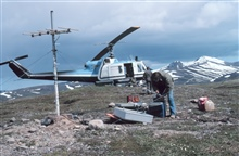 Bell UH-1M supporting seismic surveys on the Alaska Peninsula.