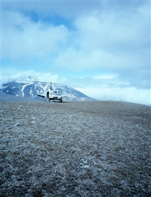 Helicopter support of seismic monitoring stations in the Katmai NationalPark area.