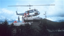 NOAA N57RF helicopter supporting survey opertions in Alaska.