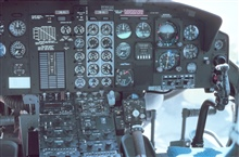 Instrumental panel on Bell 212 helicopter.