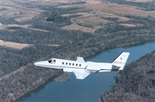 NOAA Cessna 550 Citation II used for photogrammetric and remote sensing.