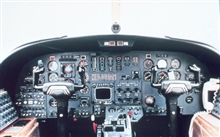 Cockpit of NOAA Cessna 550 Citation II used for photogrammetric and remotesensing.