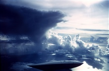 Towering cumulus and cumulus congestus over the tropical Atlantic.