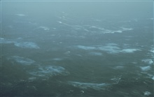 Sea surface as observed from 500 feet in Hurricane Emmy.  Wind speed 70 knots.
