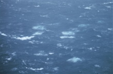 Sea surface as observed during Hurricane Greta.