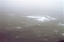 Sea surface from approximately 500 feet altitude in 60 knots wind speed inHurricane Emmy.