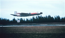 ESSA B-57 N1005 in flight