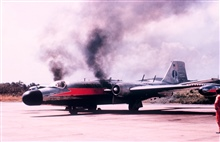 ESSA B-57 N1005 firing up the engines