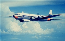 Weather Bureau DC-6 N6539C in flight