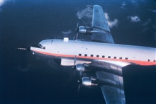 Weather Bureau DC-6 39C in flight