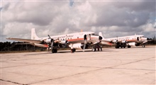 Weather Bureau DC-6's on the ground - N6539C in foreground, N6540C in background