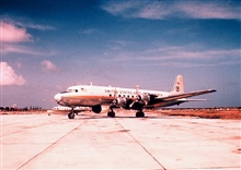 Weather Bureau DC-6 N6539C on tarmac with ESSA designator.