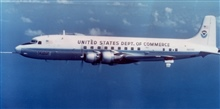 NOAA DC-6 N6539C in flight.